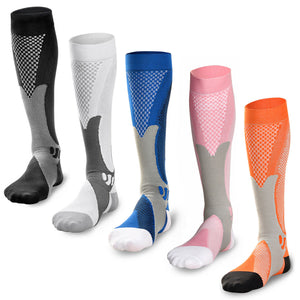 3 Pairs Compression Socks Sports Men Women Calf Shin Leg Running Stockings S-XL