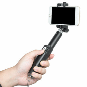 Bluetooth Extendable Aluminium Selfie Stick Monopod With 1/4 inch screw hole