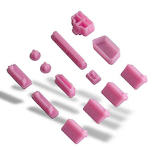 13pcs Silicone Anti Dust Port Plugs Cover for Laptop Notebook Pink