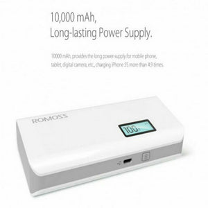 ROMOSS Solo 5 Plus Power Bank 10000mah Dual USB External Battery Charger