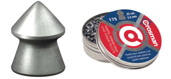 Crosman .22 Premier Pointed Pellets 175 pk