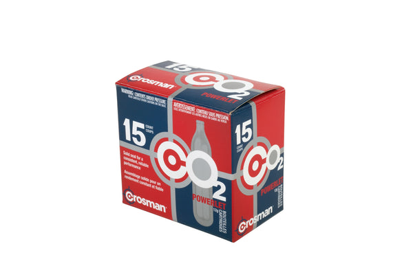 Crosman C02 Powerlet Cartridges 15 pk