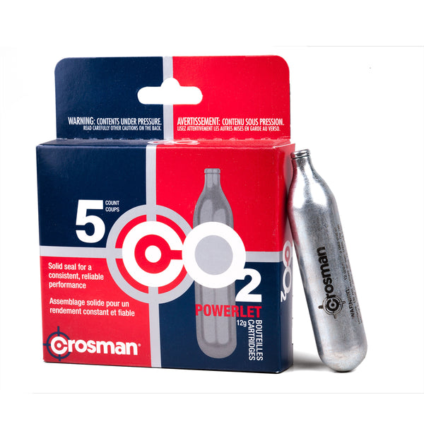 Crosman C02 Powerlet Cartridges 5 pk