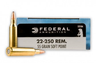 55gr SP Federal Power Shok 22-250