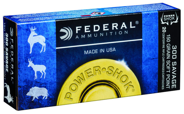 150gr SP Federal 300 Savage