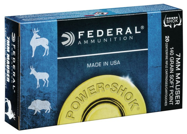 140gr SP Federal Power-Shok 7mm Mauser