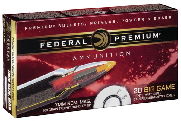 160gr Trophy Bonded Tip Federal Premium 7mm