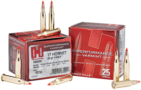 20gr V-Max Hornady Superformance 17 Hornet
