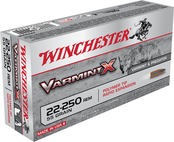 55gr Poly Tip Winchester Varmint X 22-250