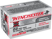 40gr JHP Winchester Super-X 22 Mag
