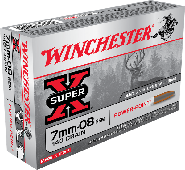 140gr PP Winchester Super-X 7mm08