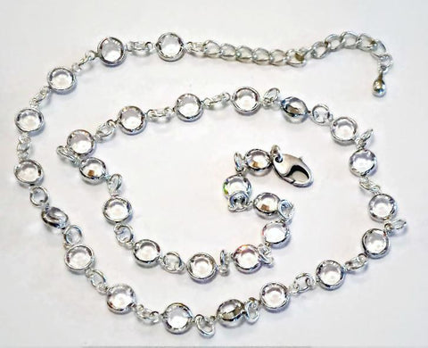 Elegant Swarovski crystal 6mm channel necklace clear crystal-Cubrik Store