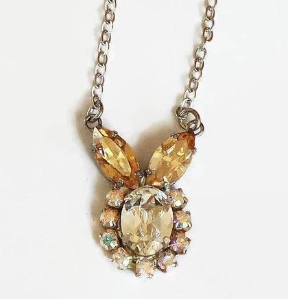 Swarovski Crystal Fancy Stone Clear Crystal & Golden Shadow Pendant-Cubrik Store