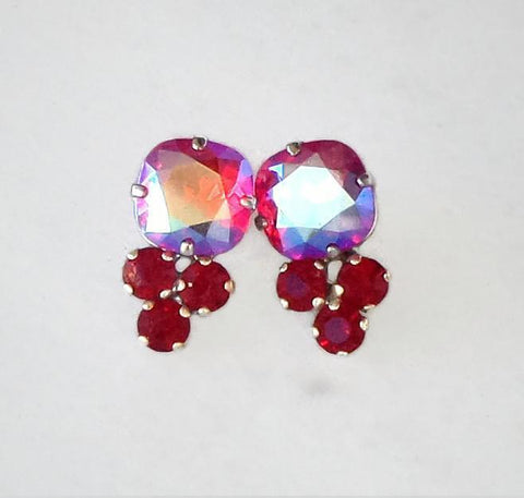 Swarovski crystal stud and drop fancy stone earrings light shimmer effect/siam-Cubrik Store