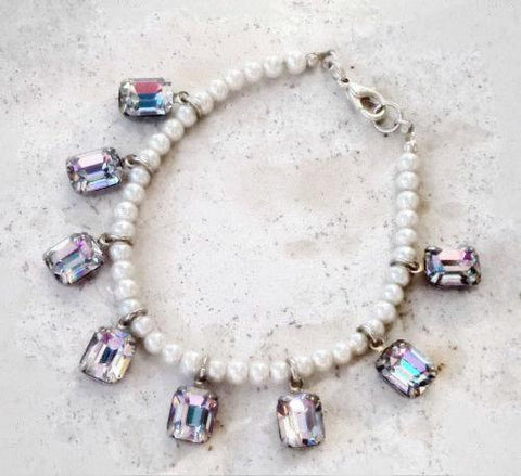 Swarovski crystal 10X8mm vitrail light fancy stones charm bracelet-Cubrik Store