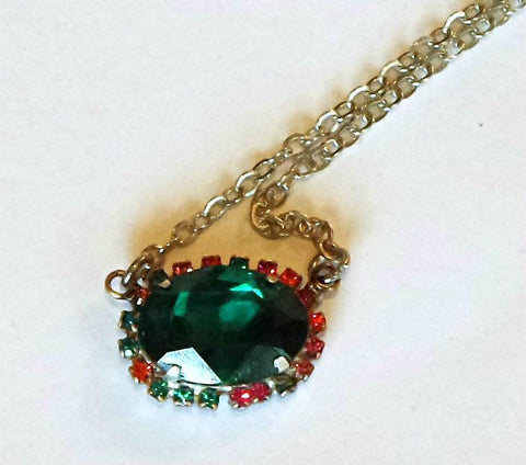 Swarovski Crystal 18X13mm oval fancy stone pendant necklace emerald-Cubrik Store