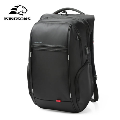 Kingsons KS3140 Laptop Backpack External USB Charge Computer Backpacks Anti-theft Waterproof Bags for Men Women