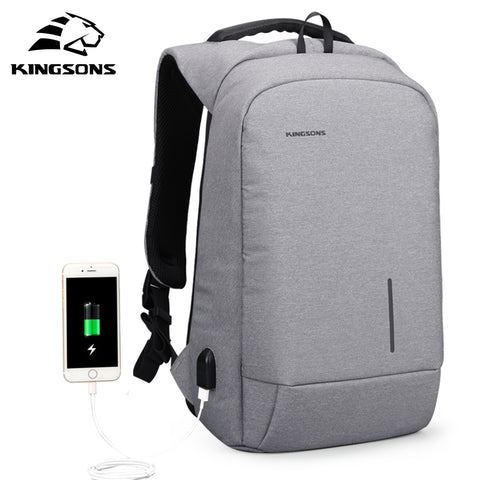 kingsons KS3149W Men Backpack For 13 15.6inches Laptop Backpack Large Capacity Casual Style Bag Water Repellent Backpack