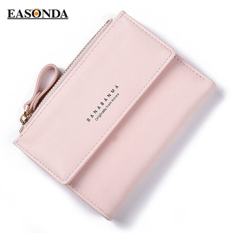 Wallet Female 2017 New Tassel Lady Short Women Wallets Mini Money Purses Two Fold PU Leather Bags Female Coin Purse Card Holder
