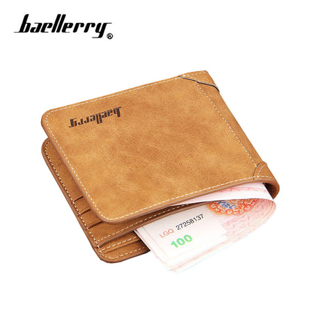 baellerry Europe retro men's wallet Slim fashion casual scrub men wallet short purse for cards bag quality guarantee D2089-8