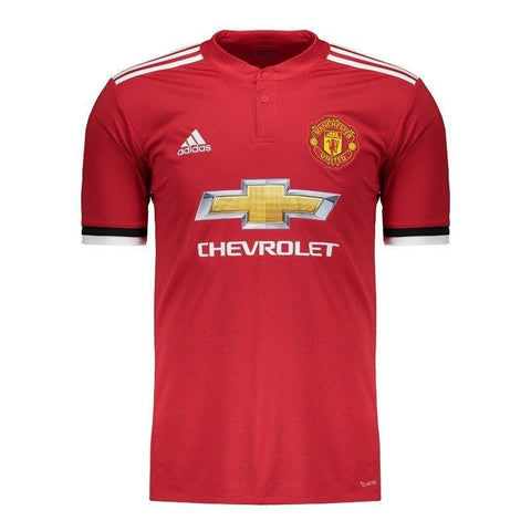Camisa Manchester United Home 17/18 S/Nº Torcedor Adidas Masculina