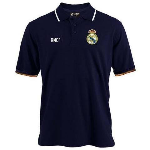 Camisa Polo Infantil Real Madrid Body Azul