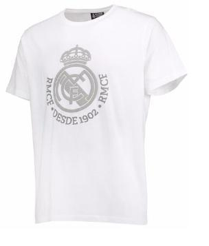 Camiseta Real Madrid Escudo Branco 17/18