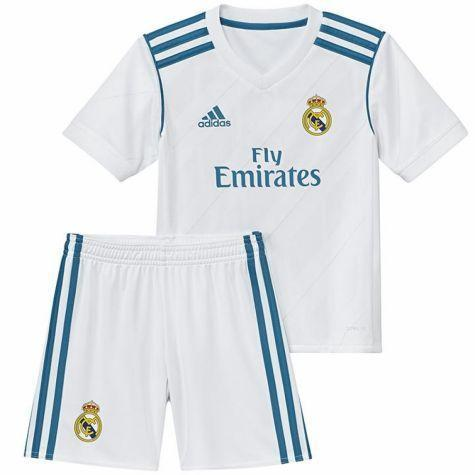 Conjunto Real Madrid Infantil Home 17/18 S/Nº Uniforme Adidas