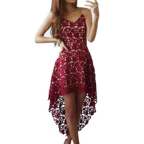 Fame Backless Lace Dress