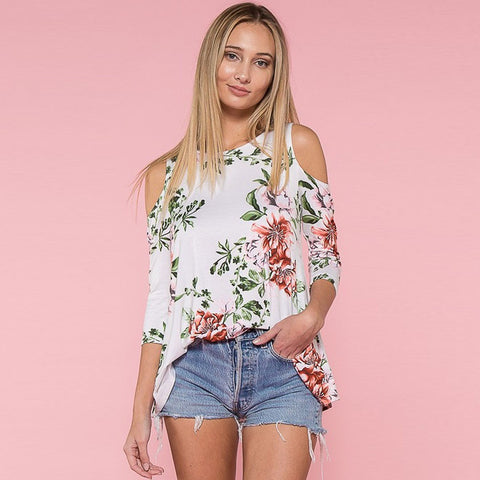 Fame Cold Shoulder Blouse