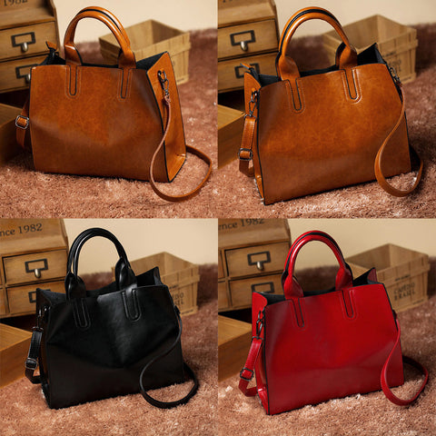 Fame Casual Leather Handbag