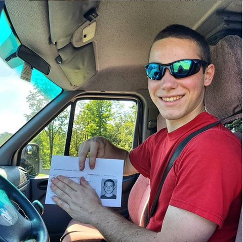 Fletcher is a Licensed Driver!