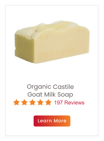 Organic Castile Goat Milk Soap with Extra Virgin Olive Oil