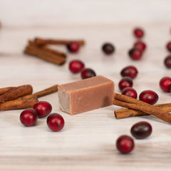goat milk soap cranberry spice travel