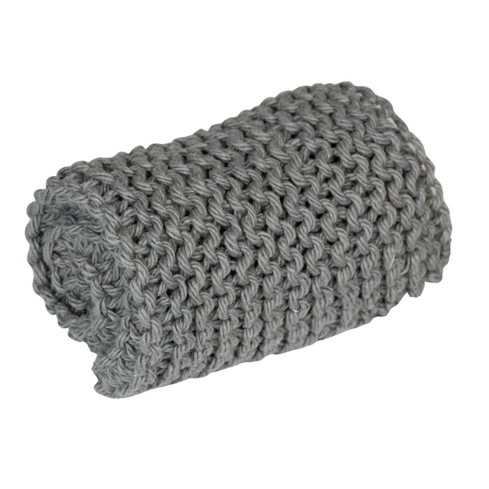 washcloth grey cotton gray