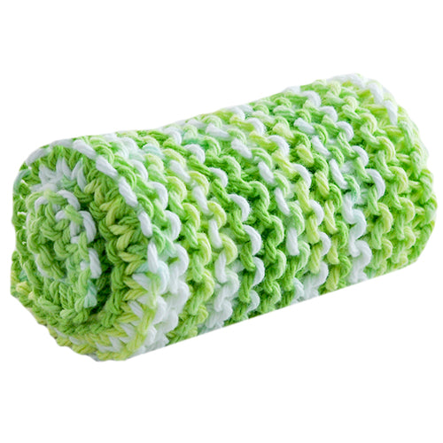 lime yellow washcloth