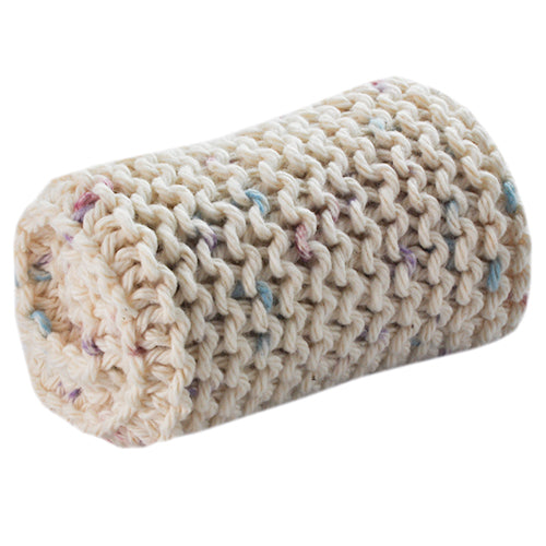 washcloth natural speckles