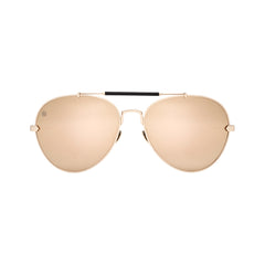 gold mirror polarised explorer frame taylor morris eyewear