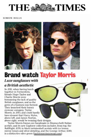 the times brand watch taylor morris eyewear
