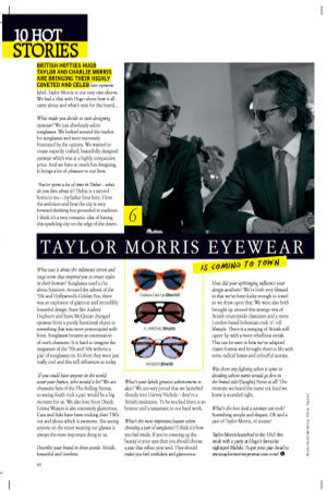 grazia taylor morris eyewear co-founder interview hugo taylor charlie morris