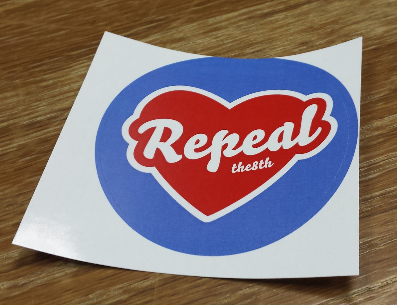 Maser Repeal The 8th Heart Sticker