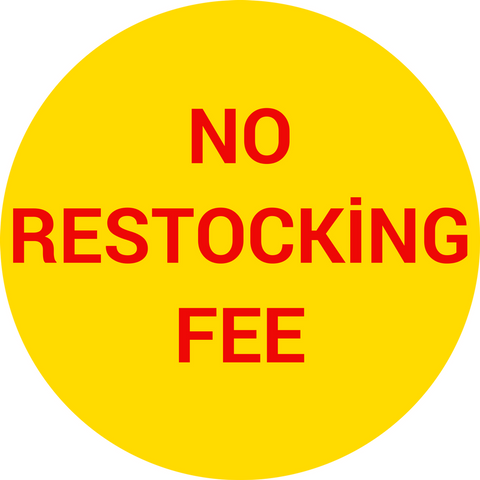 No restocking fee