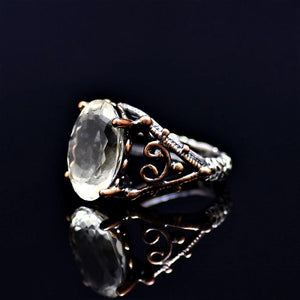 Silver Ring Adorned With Citrine Stone