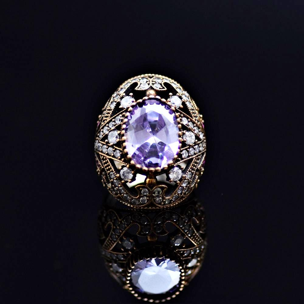 Silver Ring Adorned With Kunzite Stone
