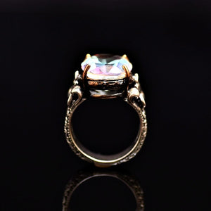 Silver Ring Adorned With A Big Crystal Stone