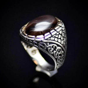 925 Sterling Silver Ring Adorned With Coffee Agate Stone