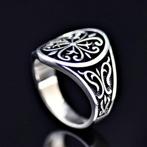 Anatolian Figures Engraved Silver Ring