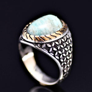 Distinctive Silver Ring Adorned With A Natural Stone
