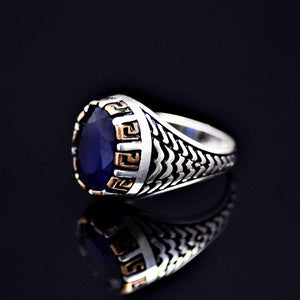 Elegant 925 Sterling Silver Ring Adorned With Lab Created Sapphire Right
