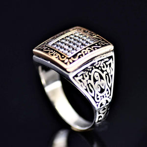 Elegant Silver Ring With Zirconia Stones